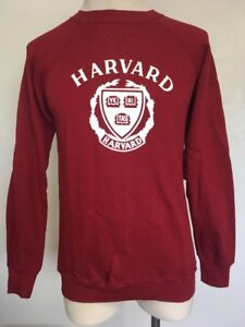 VTG 70s~ HARVARD UNIVERSITY Sweatshirt ~ CrimsonWhite ~ Champion Blue Bar~ M