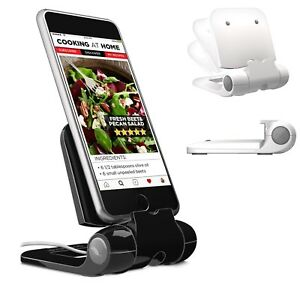 100% Genuine! Prepara iPrep Mini Adjustable Phone Stand Holder Black! RRP $34.95