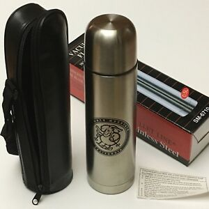 Stainless Steel VACUUM FLASK Thermos Bullet Travel Cup Mug Tumbler 500ml wCase