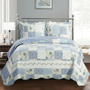 Brea Printed Quilted Wrinkle Free Coverlet Antique of Various Floral Designs Set $49.99