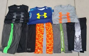 BOYS Youth Large LOT of 8 UNDER ARMOURNIKE Shorts & Tank Tops Yth Large