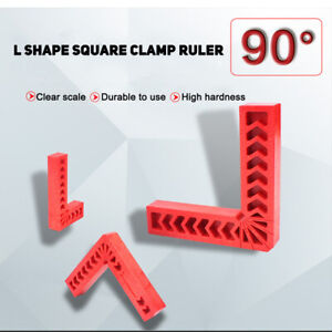 L Shape Corner Clamping Square Right Angle Clamps Ruler 90 Degree Woodwork Tool $4.03