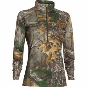 Under Armour Women's Tech Camo 12 Zip (Realtree Xtra) 1264624-946 Hunting