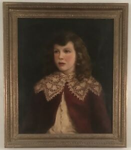 Gorgeous antique portrait of 4 year old John Burkhead. Dated 1898 by C.H. Parker