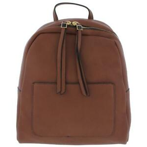 Moda Luxe Womens Raven Brown Faux Leather Backpack Purse Medium BHFO 5720