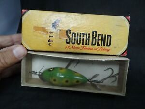 vintage fishing lure South Bend Surf Oreno in the box with cellophane
