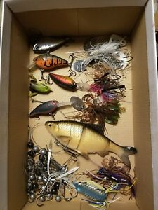 Assorted Lot of Used Fishing Lures Baits Jigs and Tackle