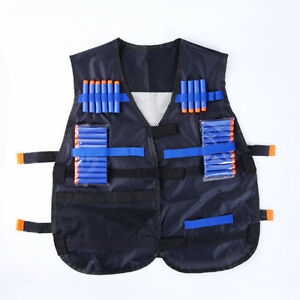 Adjustable Tactical Vest For Nerf N-strike Elite Games Hunting Bullets Holder