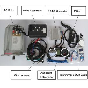 Electric  Car Kit 15kw 96v Complete Kit
