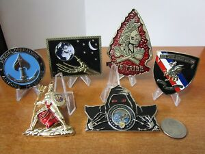6 Challenge Coins US Cyber Command JSOC CIA SWC Navy Seal Teams Two