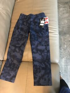 NEW $69.99 UNDER ARMOUR BOYS SIZE  7 BLUE CAMO GOLF PANTS YOUTH LOOSE FIT