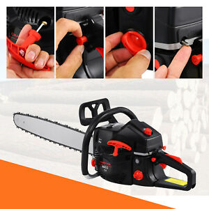 22quot; Bar Gas Powered Chainsaw Chain Saw 52cc Wood Cutting Aluminum Crankcase Xmas $98.69