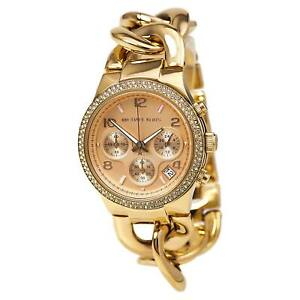 Michael Kors MK3247 Women's Rose Gold Dial Bracelet Chrono Watch