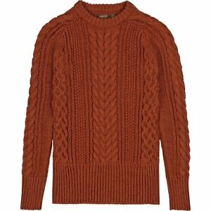 Musto Hollie Cable Womens Jumper Knits - Burnt Sienna All Sizes