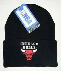 Chicago Bulls Authentic Cuffed Beanie Toque Knit hat New with tags