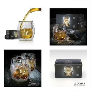 Double Mixed Drinkware Sets Wall Whiskey Glasses Set+FREE Sphere Ice Ball Mold