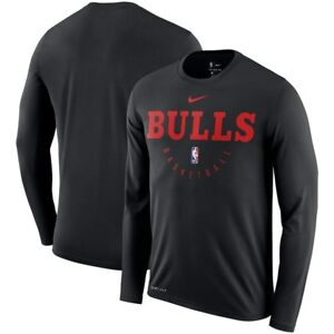 Nike NBA Chicago Bulls Practice Legend Long Sleeve Performance Dri-FIT T-Shirt