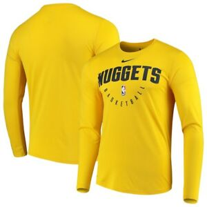 Nike NBA Denver Nuggets Practice Legend Long Sleeve Performance Dri-FIT Shirt