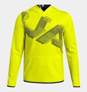 Under Armour Fleece Boys Highlight Hoodie - Yellow - #1318228 - Youth XL - NEW!