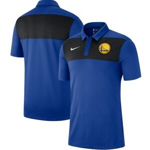 New 2018-2019 NBA Nike Golden State Warriors Statement Coaches Dri-FIT Polo