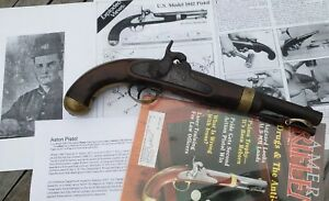 Aston Percussion Pistol Model 1842 Hand Stamped Civil War Brass Finishings.