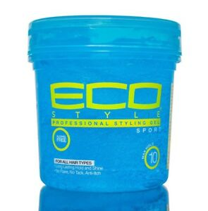 Eco Professional Styling Gel Sport Strong Hold Shine Anti-Itch 32 fl.oz - Blue