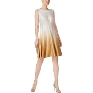 MSK Womens Fit & Flare Ombre Shine Cocktail Dress BHFO 0063