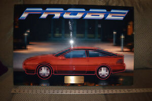 1989 Ford Probe Commemorative Launch Wall Hanging $70.00
