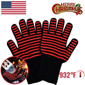 Heat Resistant Gloves Oven Hot Grilling BBQ Mitts 932℉ Cooking Extreme K