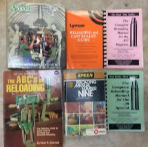Lot Of 6 Reloading Manuals Speer Lyman Number Nine ABC's Loadbooks .38.357