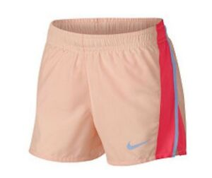 NWT-NIKE DRY-FIT RUNNING SHORTS YOUTH GIRLS LARGE  Peach #6003