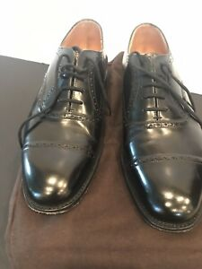 Men's Designer Church's Dress Black Leather OXford SHOES UK75F US Size 8.5