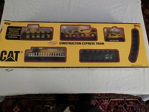 CAT Equipment Motorized Construction Express Train Set #55650 Toy State Int.