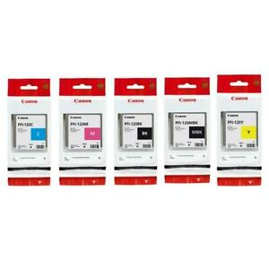 Canon PFI120 130ml Pigment Ink Tank Bundle Matte BlackCyanMagentaYellowBlack