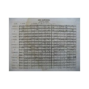 BUOT Victor The Lancers Quadrille English Orchestre 19th partition sheet music