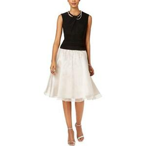 SLNY Womens Sleeveless Fit Flare Cocktail Special Occasion Dress BHFO 3562