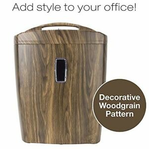 Shredder for Home or Office with Fashionable Wood Appearance 5.5 Gallon Bucket
