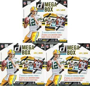 2016 PANINI DONRUSS FOOTBALL MEGA BOX LOT OF 3 - 2 HOBBY PACKS PER BOX!