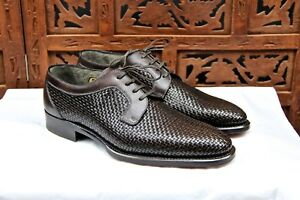 BRIONI LIMITED EDITION 388600 HAND MADE IN ITALI CROSSHATCH size 6.5UK 39.5EU