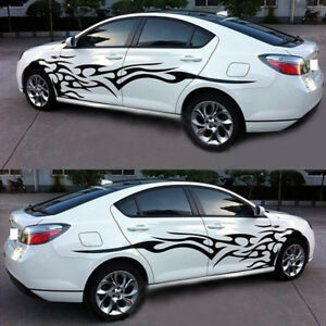 2x SUV Car Decal Vinyl Graphics Side Stickers Body Generic Decal Sticker Black