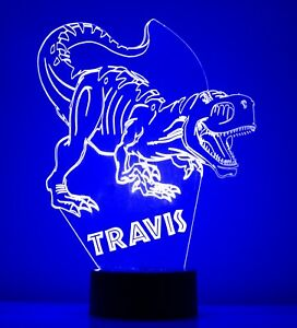 3D Dinosaur Personalized 7 Color Touch Night Light Led Lamp Table Desk Kids Gift