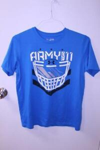 Youth Boys Under Armour XL Loose Fit Blue ARMY OF11 Shirt S S $16.99