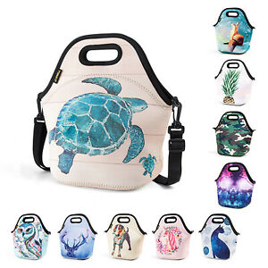 Thermal Neoprene Lunch Bags for Women Kids Office School Men Lunch Box Insulated $8.99
