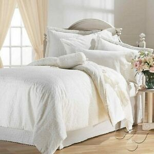 Bordare Wedding Embroidery Off White Comforter Sheet Set Cotton New Home Bedding