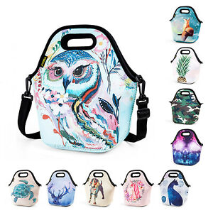 Neoprene Lunch Bag for Girls Kids Waterproof Large Food Insulated Lunch Box Tote