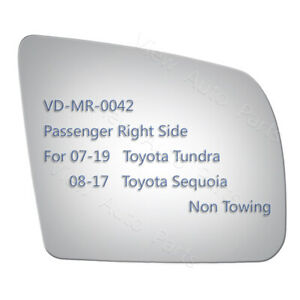 Replace Mirror Glass For 2008 2017 Toyota Sequoia Right Passenger Side RH #5263 $16.89