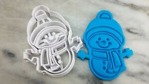 Snowman Cookie Cutter 2-Piece, Outline & Stamp #2 Christmas Cookies Winter