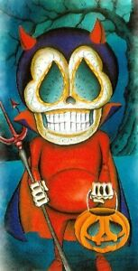 Trick Or Treat by Dave Sanchez Halloween Skeleton Canvas Art Giclee Print