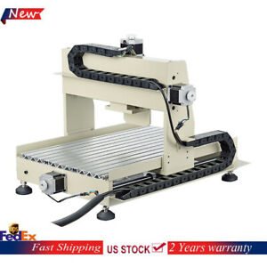 4 Axis CNC 3040 Router Engraver Machine 560W Wood PCB Drill Mill Carving Cutter