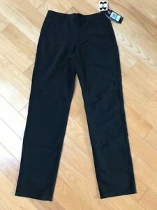 $65 Under Armour Boys Youth Match Play Golf Pants Loose Black Size 16 NEW wTags